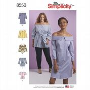 8550 Simplicity Pattern: Women's Dress, Tunic and Top in Two Lengths